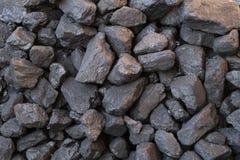Schließen Sie oben von der schwarzen Kohle lizenzfreie stockbilder