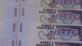 Schlie?en Sie oben von den albanischen LEK stock video footage