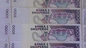 Schlie?en Sie oben von den albanischen LEK stock footage