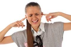 Schließen der Ohren Stockbilder