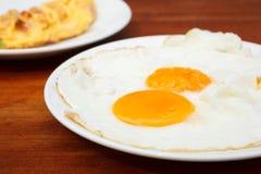 Schließen Sie herauf Fried Eggs Lizenzfreies Stockbild