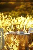 Schließen Sie herauf romantisches Abendessen Lizenzfreie Stockbilder