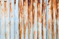 Schließen Sie herauf Rusted galvanisierte Eisenplatte Lizenzfreie Stockfotos