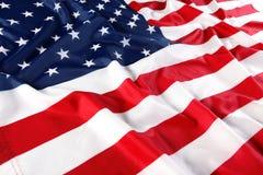Schließen Sie oben von der amerikanischen Flagge Lizenzfreies Stockbild