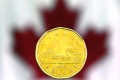 Kanadischer Dollar Stockfoto