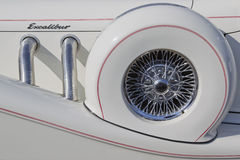 Schließen Sie oben von Excalibur Auto-Weiß 1989 Lizenzfreies Stockfoto