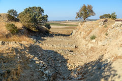 The Schliemann Trench in ancient city Troy. Turkey Stock Images
