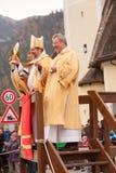 Schliersee, Германия, Бавария 05 11 2017: Езда Leonhardi в баварском Schliersee Стоковые Изображения RF