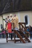 Schliersee, Германия, Бавария 05 11 2017: Езда Leonhardi в баварском Schliersee Стоковое Фото