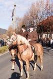 Schliersee, Niemcy, Bavaria 08 11 2015: pionier z pismem w Leonhardifahrt w Schliersee Zdjęcia Royalty Free