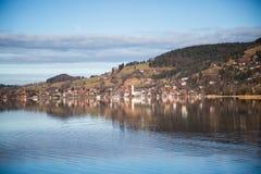 Schliersee sjö i bavaria arkivfoton