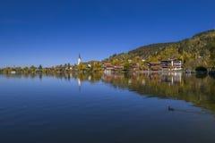 Schliersee sjö i Bayern, Tyskland Royaltyfri Fotografi