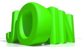 SCHLIESSEN Sie sich Grün an Lizenzfreies Stockfoto