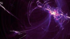 Schlingende abstrakter Hintergrund-purpurrote Lichteffekte auf schwarzen Schirm mit Bewegungsunschärfe Grafik-Effekt-Tapete und B vektor abbildung