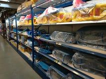 Schlitten für Verkäufe bei Selgros Lizenzfreie Stockfotografie