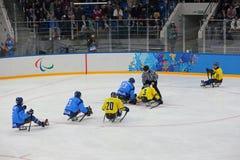 Schlittenhockey Lizenzfreie Stockbilder