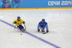 Schlittenhockey Lizenzfreies Stockbild