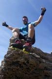 Schlittschuhläufer auf dem Gipfel Lizenzfreie Stockbilder