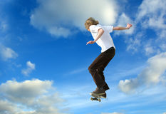 Schlittschuhläufer-Hochsprung Lizenzfreies Stockbild