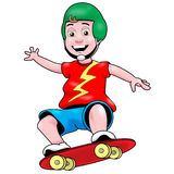 Schlittschuhläufer-Junge Lizenzfreies Stockfoto