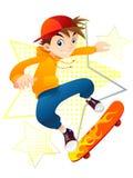 Schlittschuhläufer-Junge Lizenzfreie Stockfotos