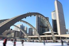 Schlittschuhläufer in Toronto Lizenzfreies Stockbild
