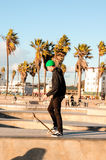 Schlittschuhläufer in Venedig-Strand (Kalifornien) Stockbild