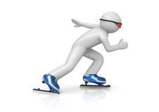 Schlittschuhläuferbeschleunigen Stockbild