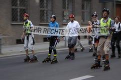 Schlittschuhläuferdemonstration Stockfoto