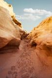 Schlitz-Schlucht in der südwestlichen Wüste Lizenzfreie Stockfotografie