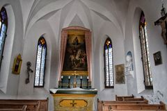 Schloßberg kapelle. Chapel from the inside Gemälde painting Royalty Free Stock Photography