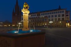 schlo Βισμπάντεν νύχτας platz Στοκ Φωτογραφίες