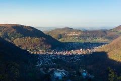 Schloss利希滕斯泰因城堡德国亚丁乌特姆博格Swabian A 免版税库存照片