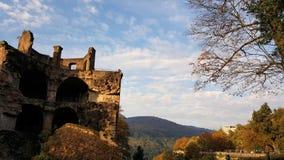 Schloss海得尔堡,德国 图库摄影