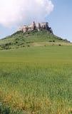 Schloss über dem Hügel - Korn Stockbild