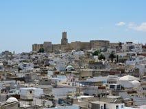Schloss über dem Medina von Sousse stockfotografie