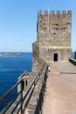 Schloss Aci Castello in Sizilien, Italien Stockbild