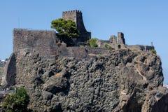 Schloss Aci Castello in Sizilien, Italien Stockfotos