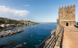 Schloss Aci Castello in Sizilien, Italien Lizenzfreie Stockbilder