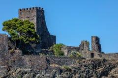 Schloss Aci Castello in Sizilien, Italien Stockfotografie