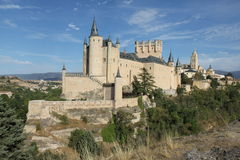 Schloss Alcazar von Segovia Stockfoto