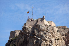 Schloss in Alicante, Spanien Stockbilder