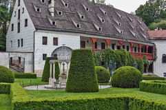 Schloss Ambras около Инсбрука, Австрии Стоковое фото RF
