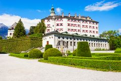 Schloss Ambras Castle, Innsbruck. Ambras Castle or Schloss Ambras Innsbruck is a castle and palace located in Innsbruck, the capital city of Tyrol, Austria Royalty Free Stock Photo