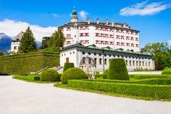 Schloss Ambras kasztel, Innsbruck zdjęcie royalty free