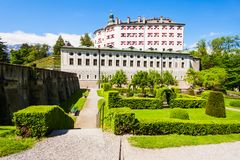 Schloss Ambras kasztel, Innsbruck zdjęcia stock