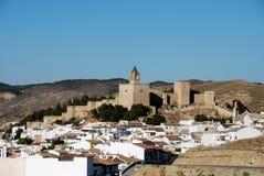 Schloss, Antequera, Andalusien, Spanien. Lizenzfreies Stockbild