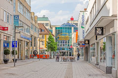 Schloss Arkaden mall in Heidenheim an der Brenz, pedestrian area Royalty Free Stock Photography