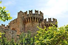 Schloss Art Architecture-Ziegelsteine Phodes Griechenland Stockbild