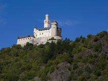 Schloss auf dem Rhein Stockfotografie